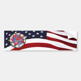 As American As a Red White Blue Apple Pie Bumper Sticker
