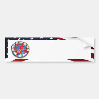 As American As a Red White Blue Apple Pie Bumper Stickers