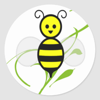 As Busy As A Bee Classic Round Sticker