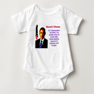 As Commander-In-Chief - Barack Obama Baby Bodysuit