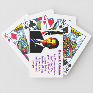 As Commander-In-Chief - Barack Obama Bicycle Playing Cards