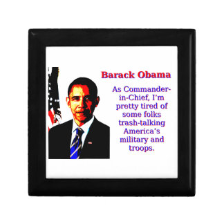 As Commander-In-Chief - Barack Obama Gift Box