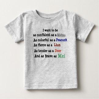 As confident as a Rhino Baby T-Shirt