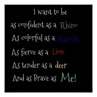 As confident as a Rhino Poster