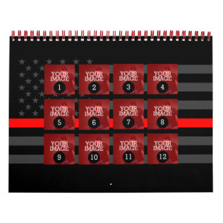 As Easy as 1 to 12 Your Own Red Line Photo Wall Calendar