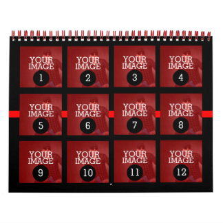 As Easy as 1 to 12 Your Own Red Line Photo Wall Calendars