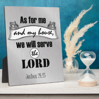 As for Me and My House Bible Verse Plaque