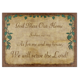 As for Me and My House, We Will Serve the Lord Boards