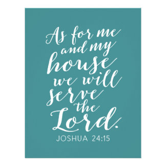 As for me and my house we will serve the Lord Full Color Flyer
