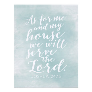As for Me and My House we will serve the Lord Letterhead