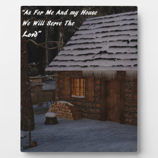 As For Me & My House Plaque