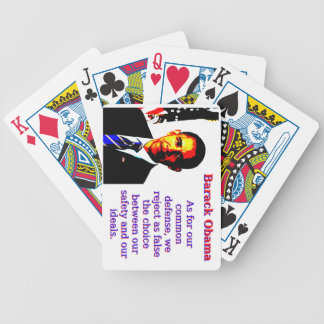 As For Our Common Defense - Barack Obama Bicycle Playing Cards