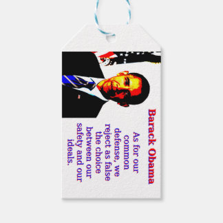 As For Our Common Defense - Barack Obama Gift Tags