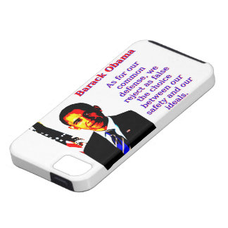 As For Our Common Defense - Barack Obama iPhone 5 Covers