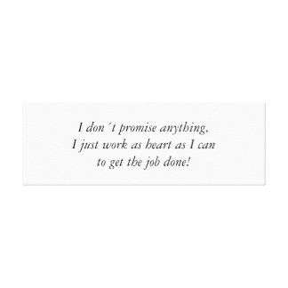 As heart as I can, quote wrapped canvas Stretched Canvas Prints