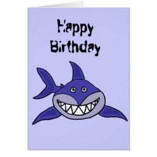 AS- Hilarious Grinning Shark Cartoon Card