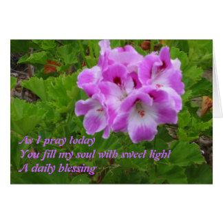 As I Pray Haiku Card