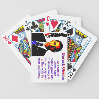 As I Said In Cairo - Barack Obama Bicycle Playing Cards
