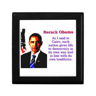 As I Said In Cairo - Barack Obama Gift Box
