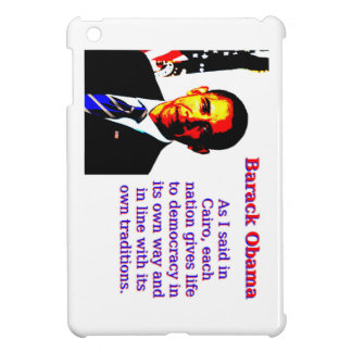 As I Said In Cairo - Barack Obama iPad Mini Cover