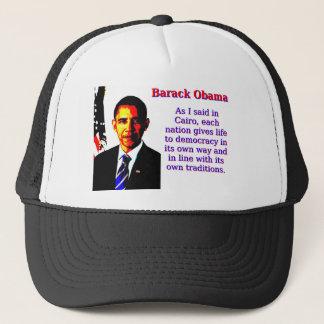 As I Said In Cairo - Barack Obama Trucker Hat