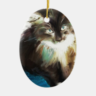 as I sat with her Ceramic Oval Ornament
