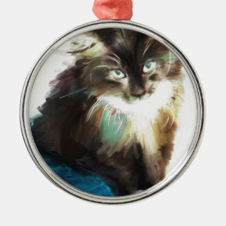 as I sat with her Silver-Colored Round Ornament