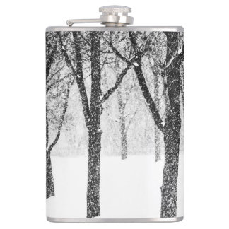 as I side with trees Hip Flask