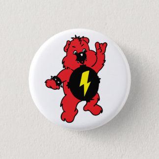 AS-IF Punk Bear 1 Inch Round Button