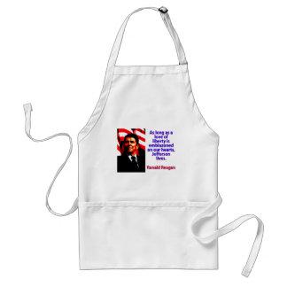 As Long As A Love Of Liberty - Ronald Reagan Standard Apron