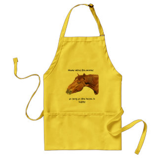 As long as the horse is happy standard apron