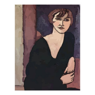 As Margo,  Woman Abstract Poster