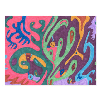 """""""As One"""" Abstract Art Postcard"""