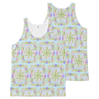 As Spring blooms , Kawaii, spring, flowers All-Over-Print Tank Top