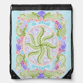 As Spring blooms , Kawaii, spring, flowers Drawstring Bag