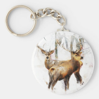 as the cold winds blow basic round button keychain