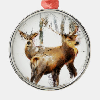 as the cold winds blow Silver-Colored round ornament