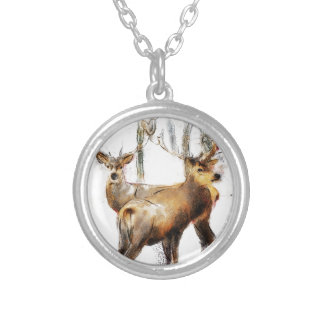 as the cold winds blow silver plated necklace