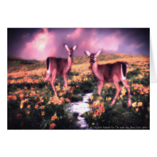 As The Deer Pants For The Water Greeting Card