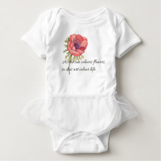 As the sun colours flowers baby bodysuit