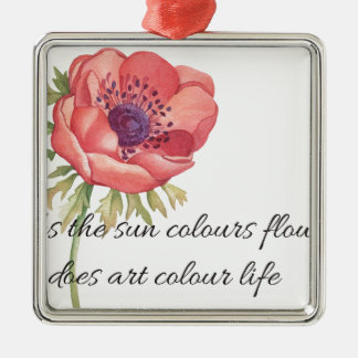 As the sun colours flowers metal ornament