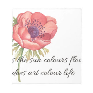 As the sun colours flowers notepad