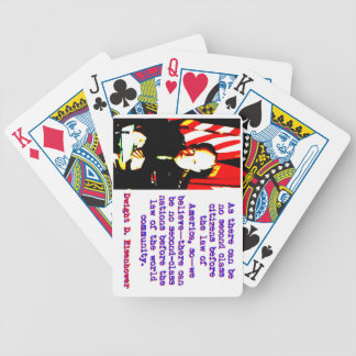 As There Can Be No Second Class - Dwight Eisenhowe Bicycle Playing Cards