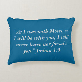"""As with Moses"" Scripture Accent Pillow"
