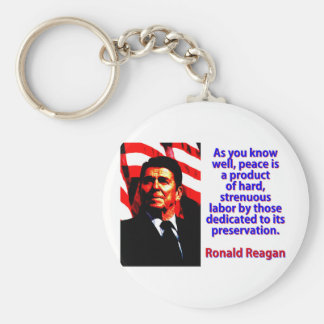 As You Know Well - Ronald Reagan Basic Round Button Keychain