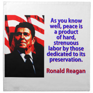 As You Know Well - Ronald Reagan Napkin