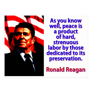 As You Know Well - Ronald Reagan Postcard