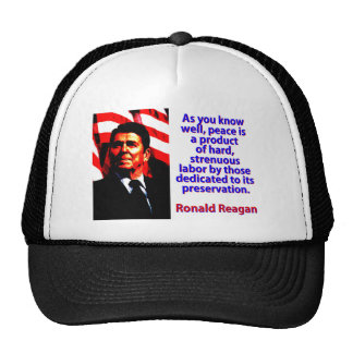 As You Know Well - Ronald Reagan Trucker Hat