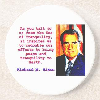 As You Talk To Us - Richard Nixon Coaster