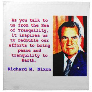 As You Talk To Us - Richard Nixon Napkin
